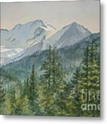 Glacier Valley Morning Sky Metal Print