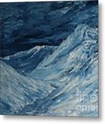 Glacier View Metal Print