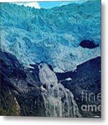Glacier Waterfall Metal Print