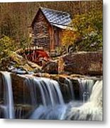 Glade Creek Cascades Metal Print