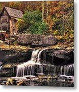 Glade Creek Grist Mill 1a - Autumn Late Afternoon Babcock State Park Wv Metal Print
