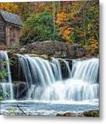 Glade Creek Grist Mill And Waterfalls Metal Print
