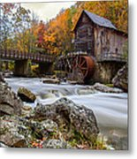 Glade Creek Grist Mill-babcock State Park West Virginia Metal Print by Dick Wood