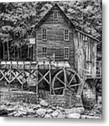 Glade Creek Grist Mill Bw Metal Print
