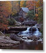 Glade Creek Grist Mill In Autumn Metal Print
