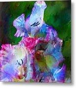 Gladiolus Floral Art Metal Print