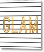 Glam Pinstripe Gold Metal Print