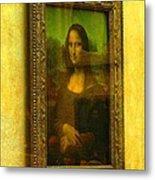 Glance At Mona Lisa Metal Print