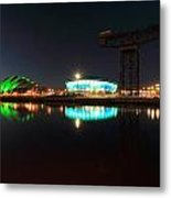 Glasgow Clyde Reflections Metal Print