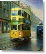 Glasgow Tram. Metal Print by Mike  Jeffries