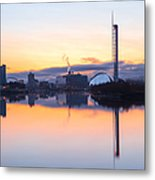 Glasgow Waterfront At Dawn Boxing Day Metal Print