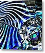 Glass Abstract 132 Metal Print by Sarah Loft