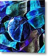 Glass Abstract 483 Metal Print