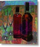 Glass And Liquor Metal Print