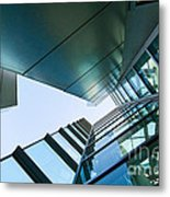 Glass And Metal - Walt Disney Concert Hall In Downtown Los Angeles Metal Print