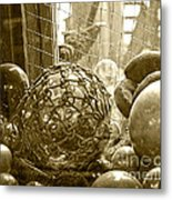 Glass Balls Japanese Glass Buoys Metal Print
