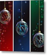 Glass Bauble Banners Metal Print