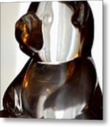Glass Bear Metal Print