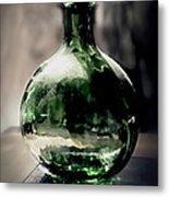 Glass Bottle Metal Print by Danuta Bennett