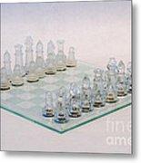 Glass Chess Metal Print