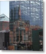 Glass Facade Reflection - Aquarium Baltimore Metal Print