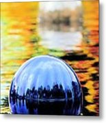 Glass Floats Metal Print