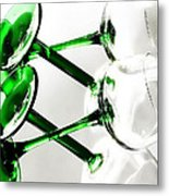 Glass Glow Metal Print