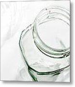 Glass Jars - High Key Metal Print