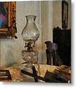 Glass Lamp And Stereopticon Metal Print