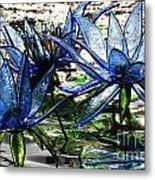 Glass Lilies Metal Print