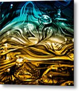 Glass Macro Abstract Rbwce Metal Print by David Patterson