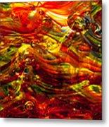 Glass Macro - Burning Embers Metal Print