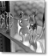 Glass Miniatures Metal Print