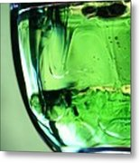 Glass Of Green Metal Print