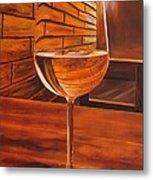 Glass Of Viognier Metal Print