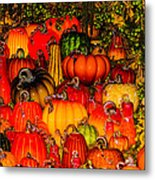 Glass Pumpkins Metal Print