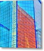 Glass Reflections Metal Print