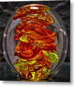 Glass Sculpture - Fire - 13r1 Metal Print