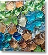 Glass Seashell Metal Print