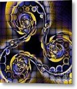 Glass Spirals Metal Print