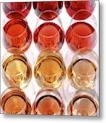 Glasses Of Rose Wine Metal Print