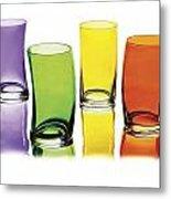 Glasses-rainbow Theme Metal Print