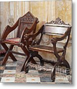 Glastonbury Chairs Metal Print