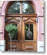 Glazed Door Metal Print