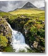 Glen Brittle Waterfall Metal Print