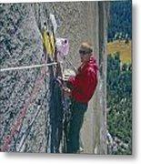 T-306607-glen Denny With Me On El Cap First Ascent 1962 Metal Print