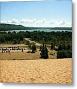 Glen Lake From The Dune Climb Metal Print