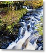 Glenbrittle Waterfall Metal Print