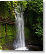 Glencar Waterfall Is Situated Metal Print