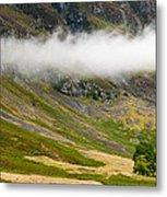 Misty Mountain Landscape Metal Print